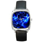 Outer Space Fractal Square Metal Watch