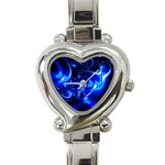 Outer Space Fractal Heart Italian Charm Watch