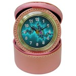 Teal Fractal Jewelry Case Clock
