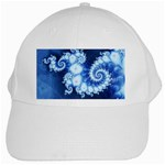 Ice Blue Fractal White Cap