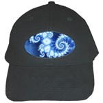 Ice Blue Fractal Black Cap