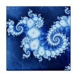 Ice Blue Fractal Tile Coaster