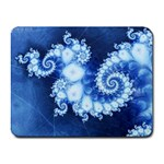 Ice Blue Fractal Small Mousepad