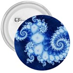 Ice Blue Fractal 3  Button