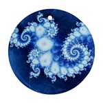 Ice Blue Fractal Ornament (Round)