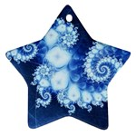 Ice Blue Fractal Ornament (Snowflake)