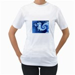 Ice Blue Fractal Women s T-Shirt