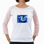 Ice Blue Fractal Jr. Raglan
