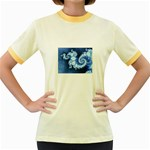 Ice Blue Fractal Jr. Ringer T-Shirt