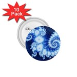 Ice Blue Fractal 1.75  Button (10 pack)