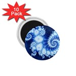 Ice Blue Fractal 1.75  Magnet (10 pack)