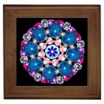 Mandala Crystal Earth Framed Tile