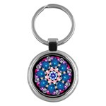 Mandala Crystal Earth  Key Chain (Round)
