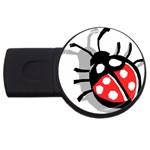 Lady Bug USB Flash Drive Round (1 GB)