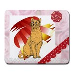 Sitting cat 2 Large Mousepad