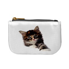 Curious Kitty Coin Change Purse by mysticalimages