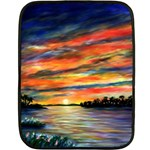 Blue Sunset by Ave Hurley - Mini Fleece Blanket(Two Sides)