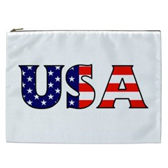 Usa Cosmetic Bag (xxl) by worldbanners