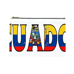 Ecuador Cosmetic Bag (large) by worldbanners