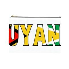 Guyana Cosmetic Bag (large) by worldbanners