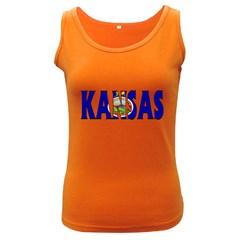 Kansas Womens  Tank Top (dark Colored)