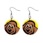 Dog 1  Button Earrings