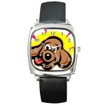 Dog Square Metal Watch