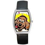 Dog Barrel Style Metal Watch
