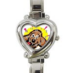 Dog Heart Italian Charm Watch