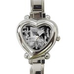 Pablo Picasso - Guernica Round Heart Italian Charm Watch