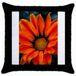 Orange Flower Throw Pillow Case (Black)