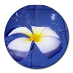 Water Flower Mouse Pad Round