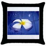Water Flower Throw Pillow Case (Black)