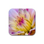 Purple Flower Rubber Square Coaster (4 pack)
