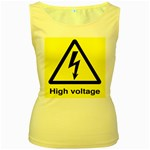 high_voltage Women s Yellow Tank Top