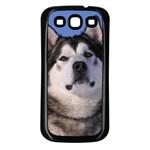 Use Your Photo Alaskan Malamute Dog Samsung Galaxy S3 Back Case (Black)