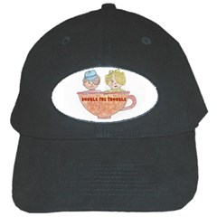 Double The Trouble Black Cap from Art2Do Front