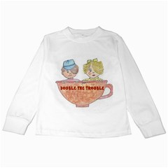 Double The Trouble Kids Long Sleeve T Front
