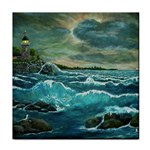 Hobson s Lighthouse -AveHurley ArtRevu.com- Tile Coaster