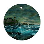 Hobson s Lighthouse -AveHurley ArtRevu.com- Ornament (Round)