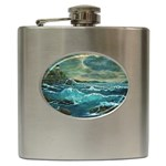 Hobson s Lighthouse -AveHurley ArtRevu.com- Hip Flask (6 oz)