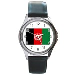 Afghanistan Round Metal Watch