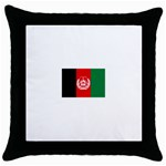 Afghanistan Throw Pillow Case (Black)