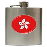 Hong Kong Flag Hip Flask (6oz)