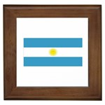 Argentinian Flag Framed Tile