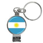 Argentinian Flag Nail Clippers Key Chain