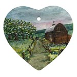Amish Apple Blossoms -AveHurley ArtRevu.com- Ornament (Heart)