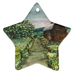 Amish Apple Blossoms -AveHurley ArtRevu.com- Ornament (Star)