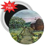Amish Apple Blossoms -AveHurley ArtRevu.com- 3  Magnet (10 pack)