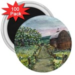 Amish Apple Blossoms - Ave Hurley - 3 Magnet (100 pack)